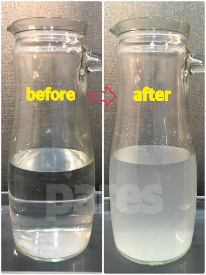 水素洗浄前後